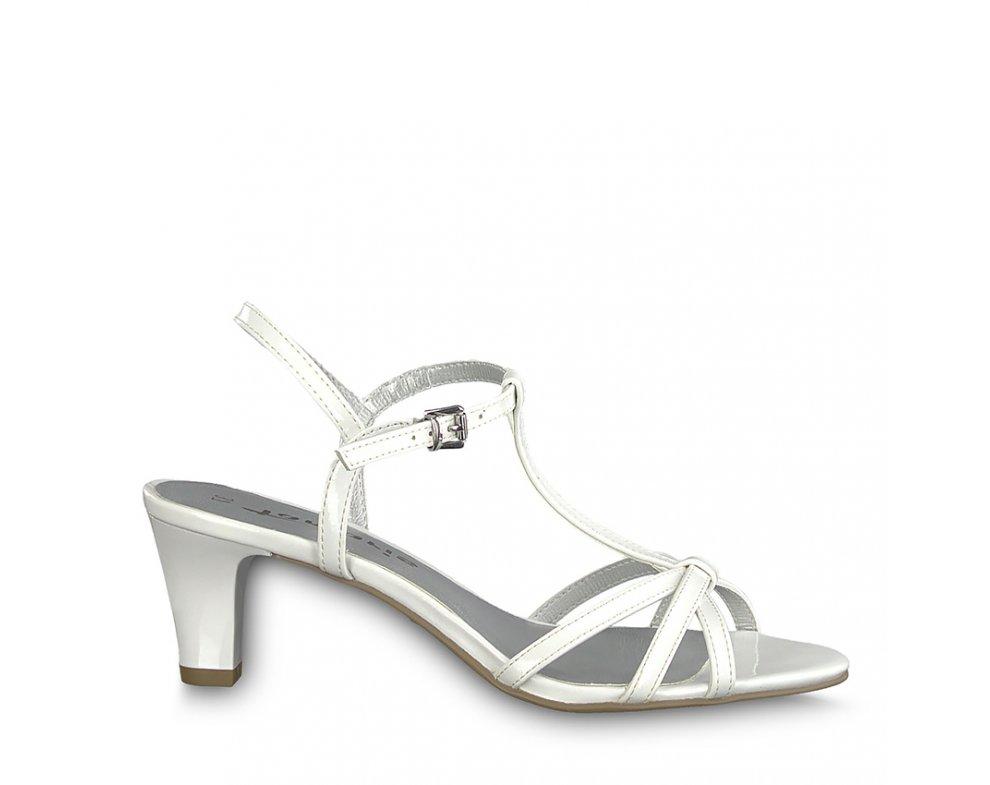 Sandále 1-1-28329-22 123 WHITE PATENT