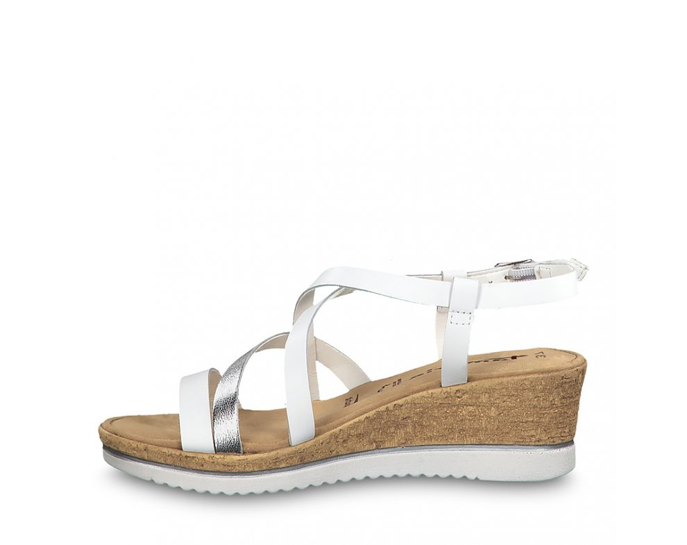 Sandále 1-1-28340-22 191 WHITE/SILVER