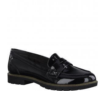 Slip on poltopánky Tamaris 1-1-24600-25 018 BLACK PATENT