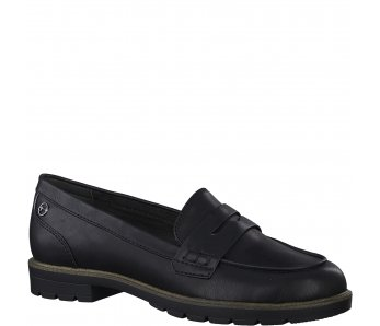 Slip-on poltopánky Tamaris 1-1-24600-25 020 BLACK MATT