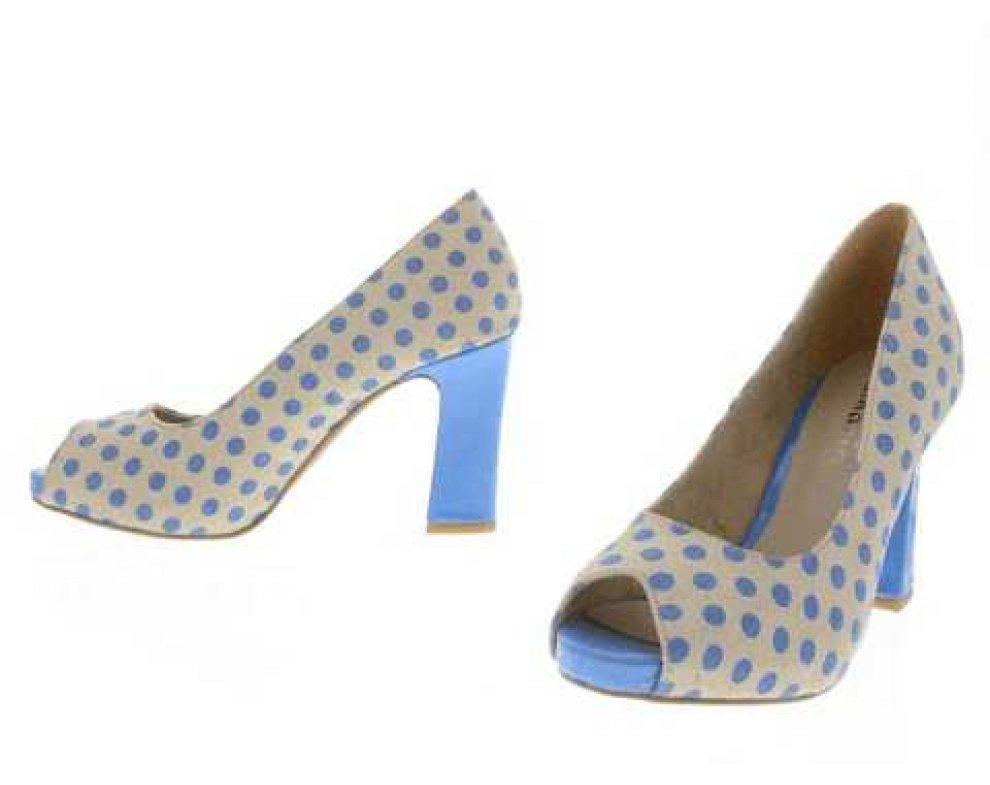 Lodičky Tamaris 1-1-29304-20 BLUE/SAND