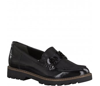 Slip-on poltopánky Tamaris 1-1-24312-25 098 BLACK COMB