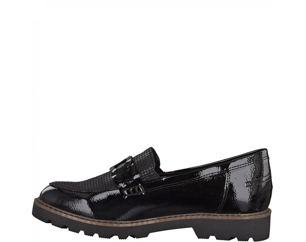 Slip-on poltopánky Tamaris 1-1-24312-25 098 BLACK COMB