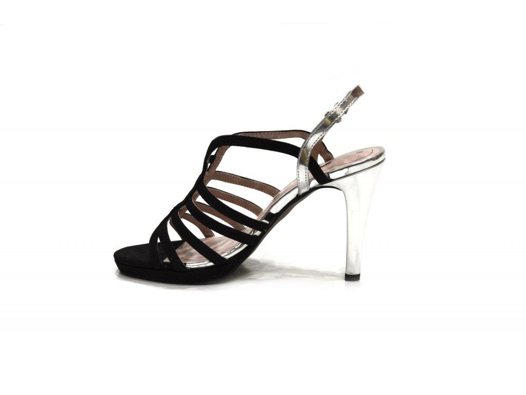 8be3b38fb2 Sandále Tamaris 1-1-28320-26 028 BLACK SILVER