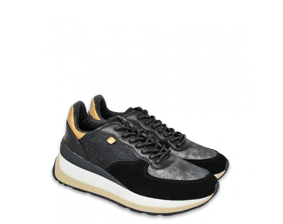 Sneakersy D4011 BLACK