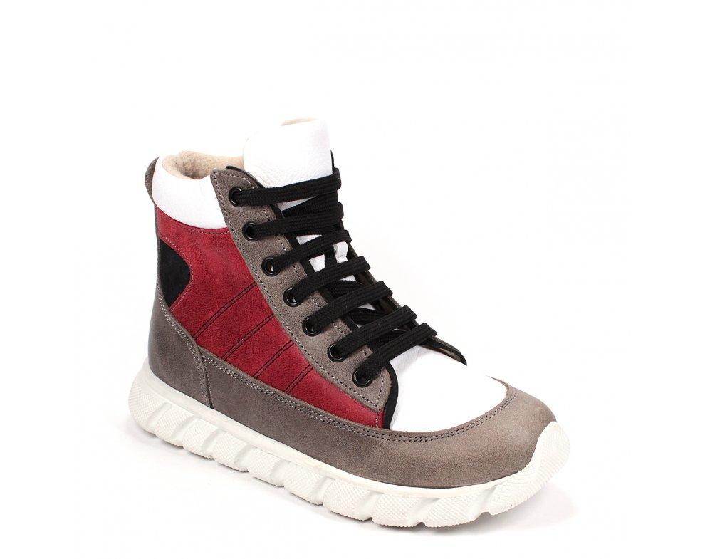 Detské topánky RB3-FLT124-17-103-21 BORDO/BIELA/SIVÁ