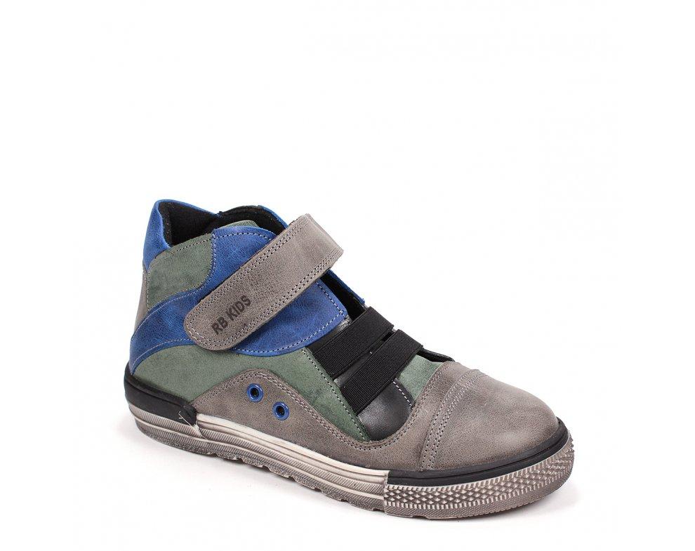 Detské topánky RB3-FLT131-17-87-13 KHAKI/BLUE/GREY