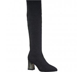 Ponožkové čižmy Tamaris 1-1-25921-25 001 BLACK