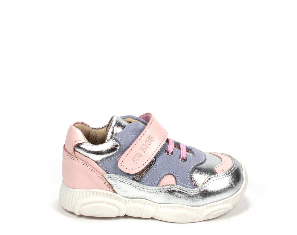 Detské topánky RB1-BB182-24-06-140 SILVER/ROSE
