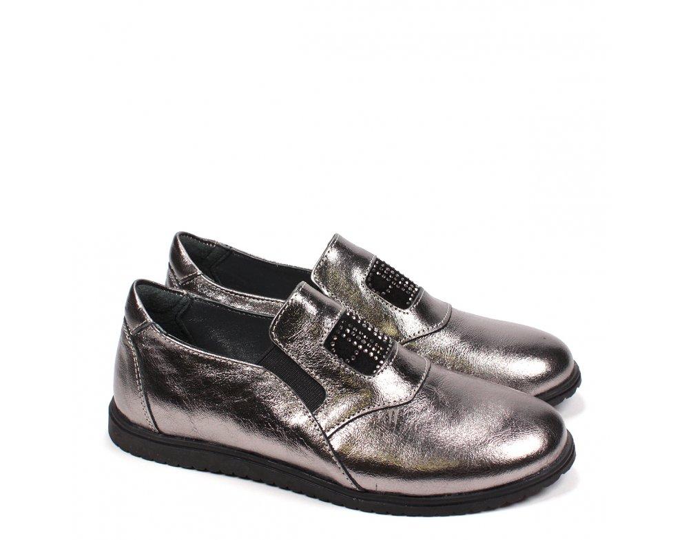 Detské elegantné topánky RB3-FLT146-90-131 METAL