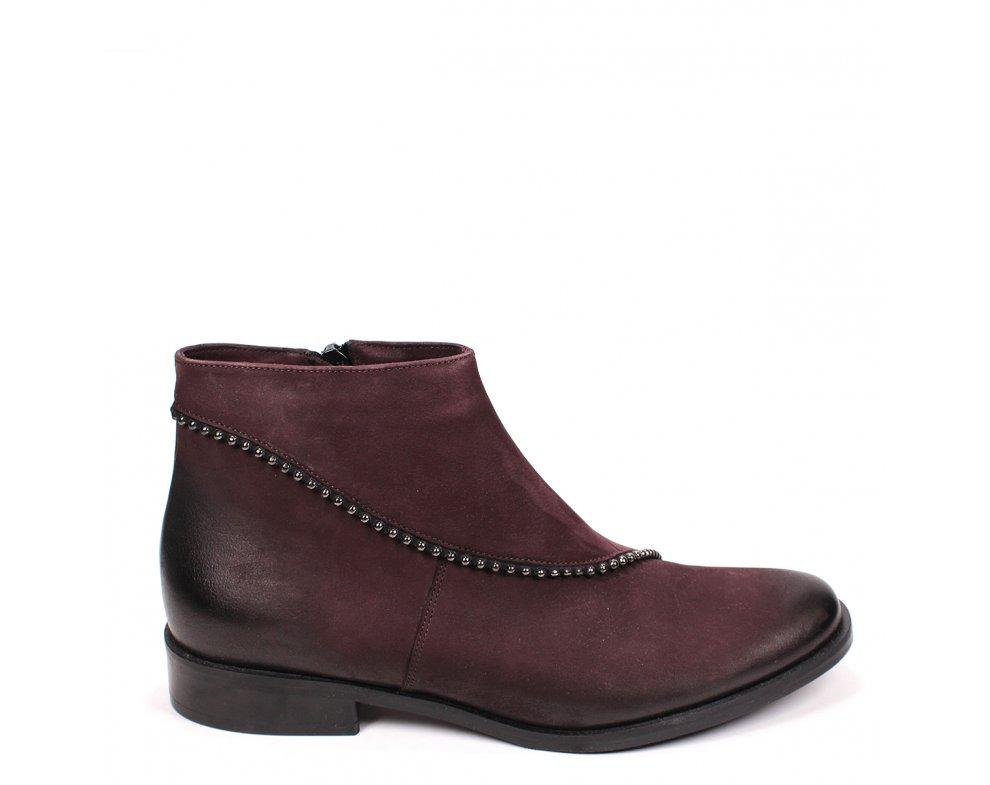 Členkové topánky S1000-16-5 BURGUNDY