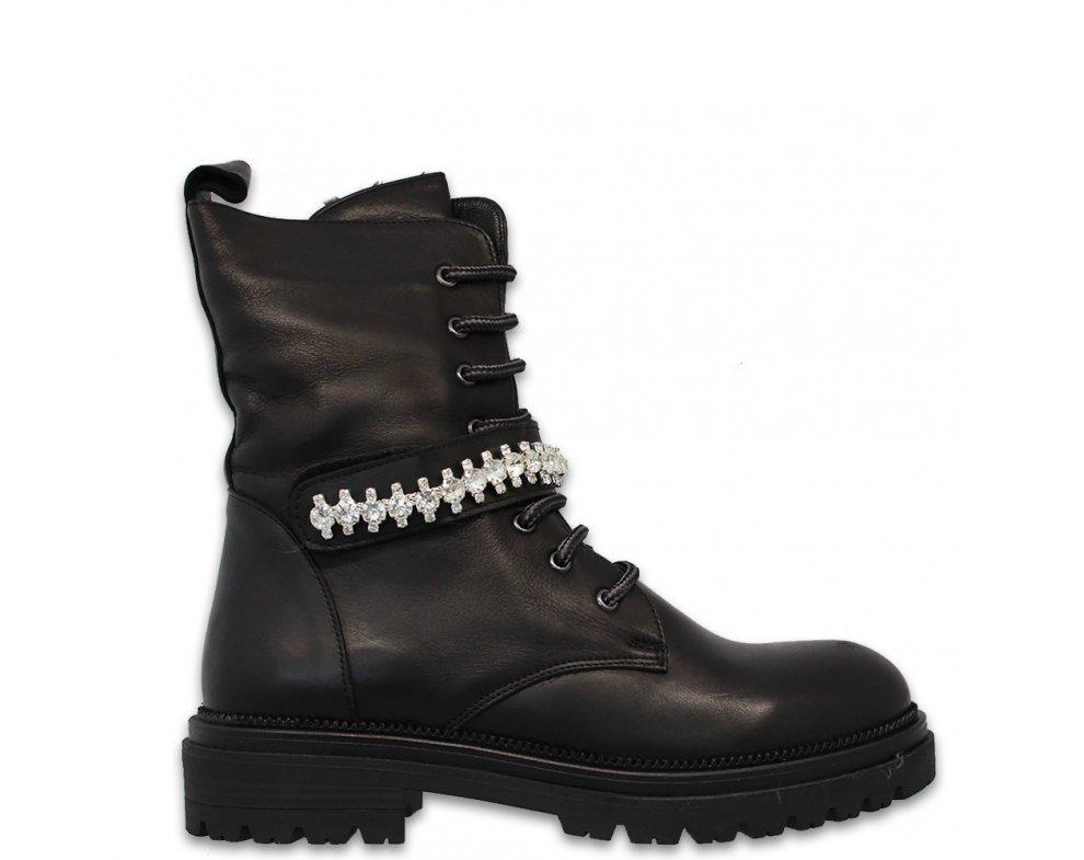 Workery AL95-01 BLACK LEATHER