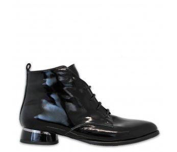 Elegantné kotníky AQ9007-03 BLACK PATENT