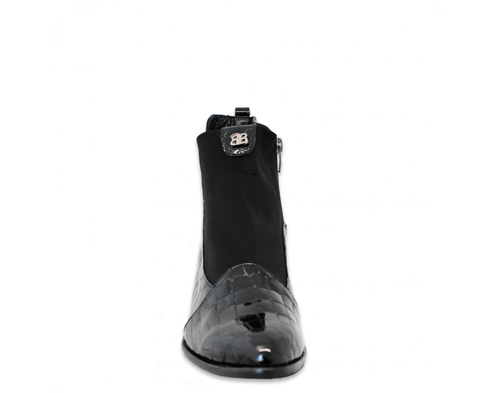 Štýlové kotníky AQ5227-59 BLACK CROCO