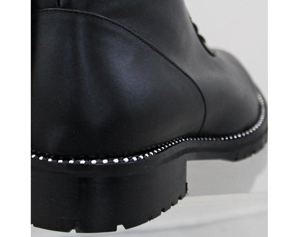 Elegantné kotníky AL1553/89 BLACK LEATHER