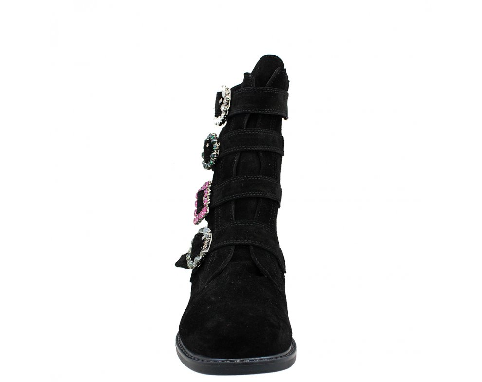 Štýlové kotníky CM20599 BLACK SUEDE