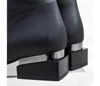 Elegantné kotníky AQ3948-07 BLACK LEATHER