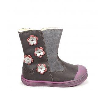 Nepremokavé detské topánky DA03-1-346 GREY