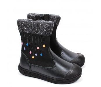 Nepremokavé detské topánky DA03-1-119 BLACK