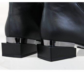 Kotníky AQ3940-07 BLACK LEATHER