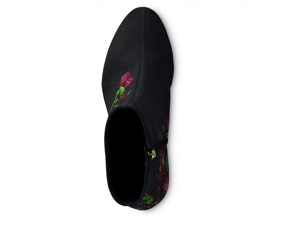 Kotníky 1-1-25370-23 034 BLACK FLOWER