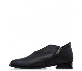 Elegantné topánky AQ3855-07 BLACK LEATHER