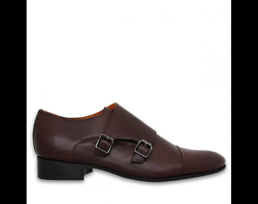 Pánska spoločenská obuv NR9902-31503 DARK BROWN