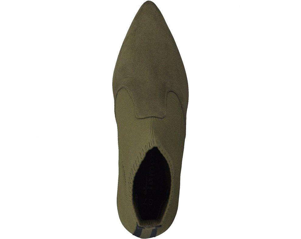 Kotníky Tamaris 1-1-25094-31 714 OLIVE/BLACK