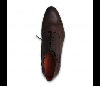 Pánska spoločenská obuv NR85702-30103 DARK BROWN