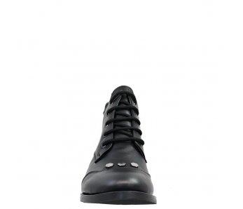 Štýlové kotníky AQ2606 BLACK LEATHER