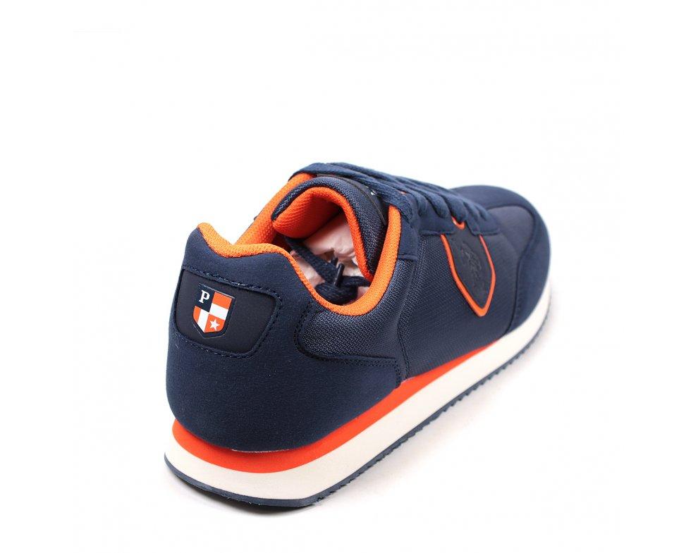 Pánska športová obuv US.POLO NOBIL002-AVI001 DARKBLUE/ORANGE