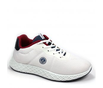 Pánska športová obuv NSM118165 04 WHITE/FLAG/SCARLET