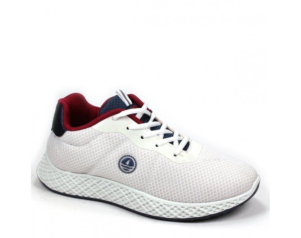 Pánska domáca obuv NSM118165 04 WHITE/FLAG/SCARLET