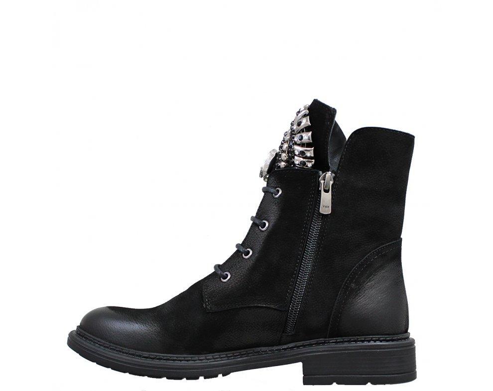 Štýlové workery MFS10272 BLACK SUEDE
