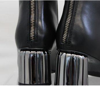 Elegantné kotníky MFS7445 BLACK LEATHER