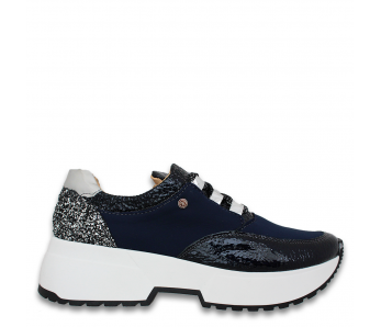 Sneakersy 3041 NAVY/BROKAT