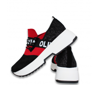 Sneakersy DTE2089 BLACK/RED
