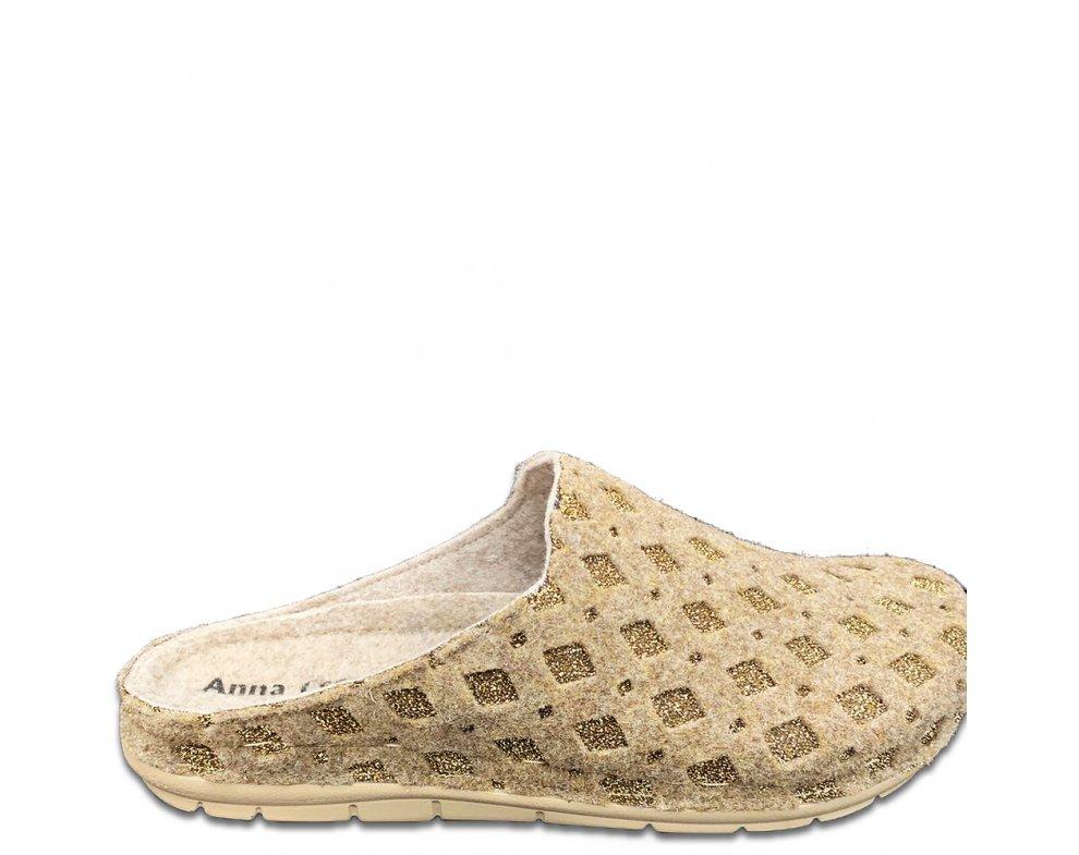 Domáce papuče SMB-15 BEIGE/GOLD