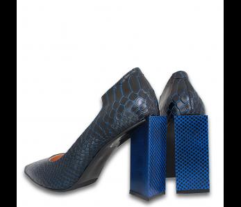 Lodičky AQ6106 BLUE CROCO