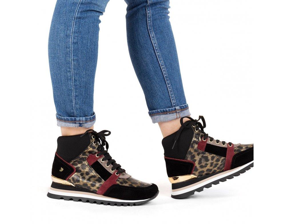 Kotníkové sneakersy 56701 LEOPARD