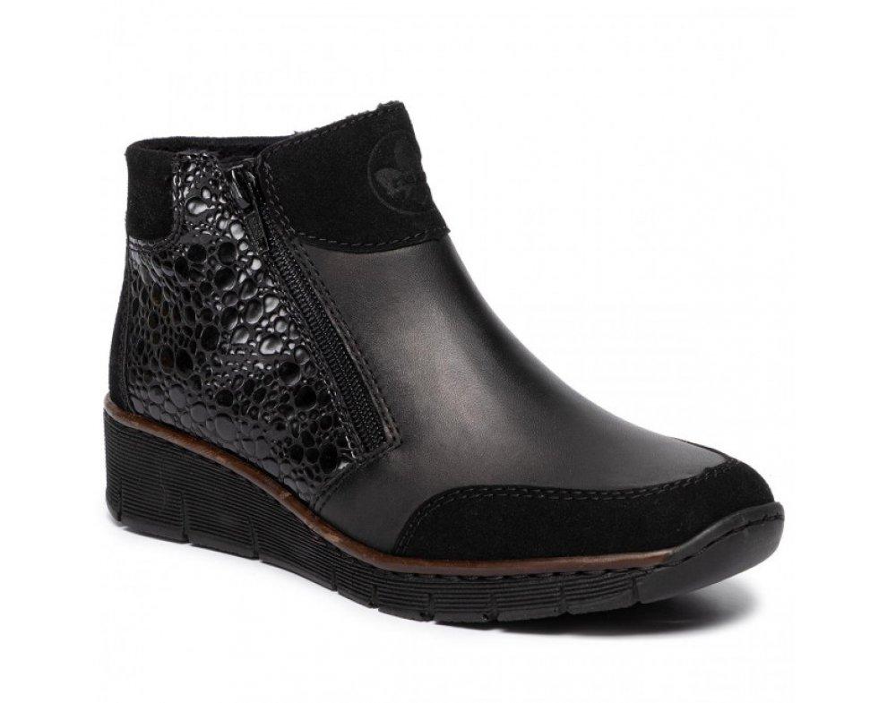 Dámska obuv RIEKER 53782-00 BLACK