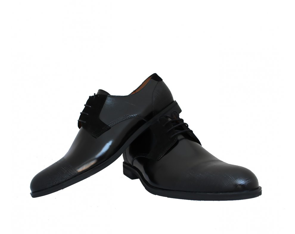 Pánksa spoločenská obuv ZEOC7569-Z009-49S02 ČIERNA