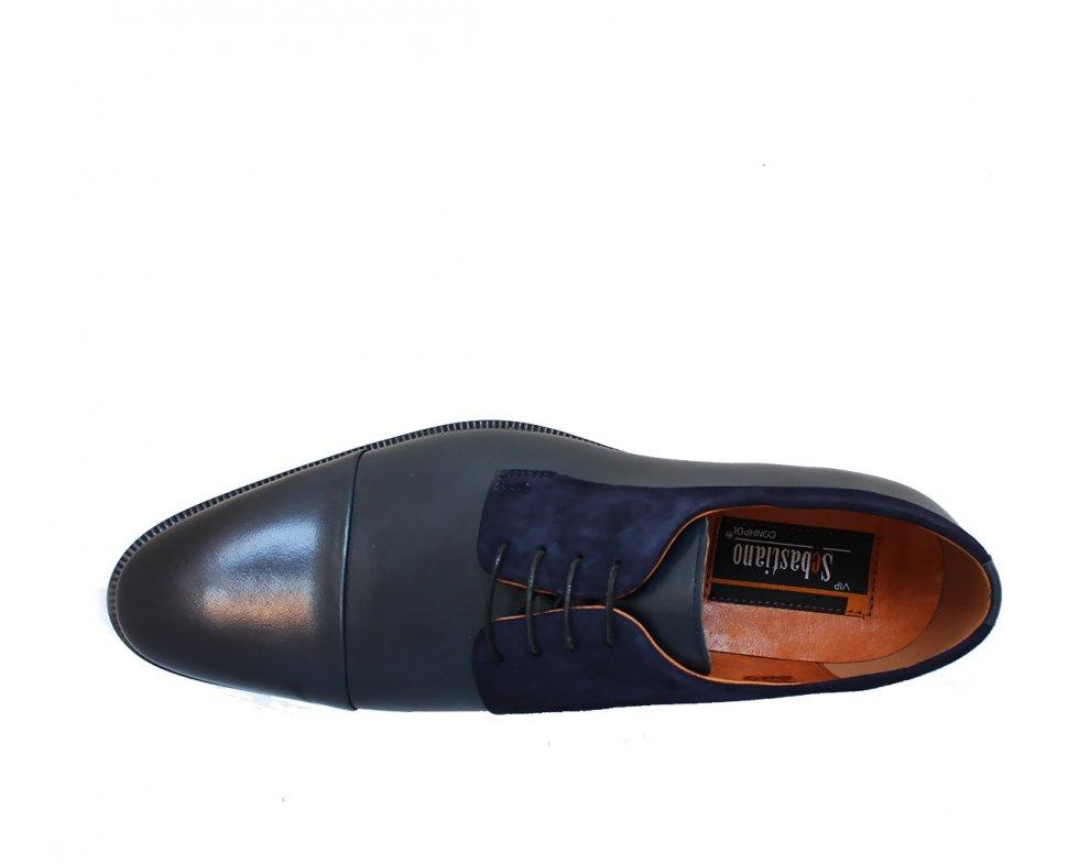 Pánksa spoločenská obuv ZEOC7701-ZT26-00S02 MODRÁ SEMIŠ
