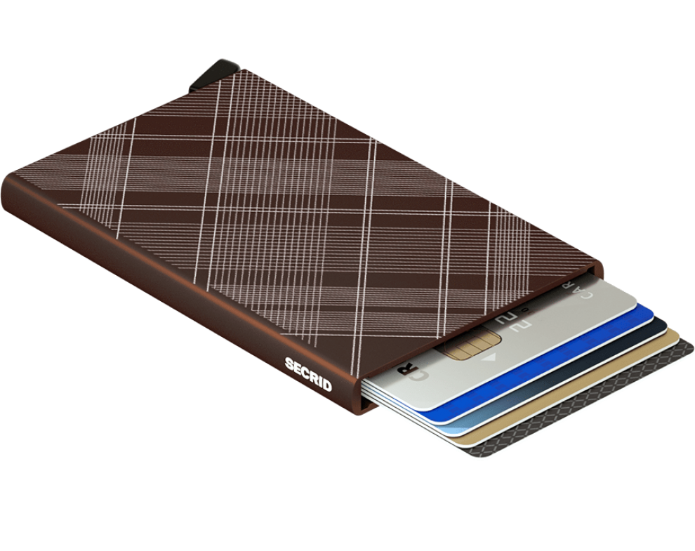 SECRID Cardprotector CLa-Tartan Brown