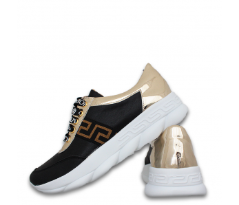 Sneakersy AN904 BLACK/GOLD