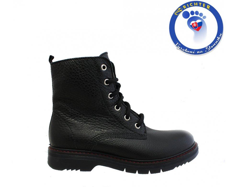 Detská obuv RICHTER R4653-443-9900 ČIERNA
