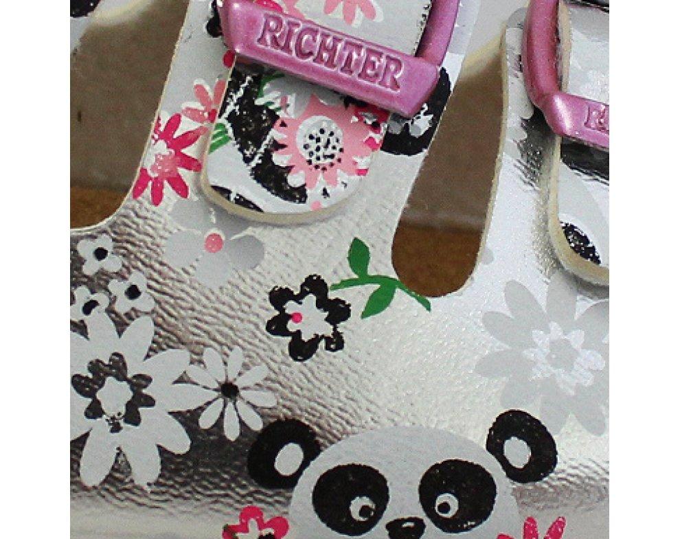 Detské papuče RICHTER R5502-442-0200 SILVER/PANDA