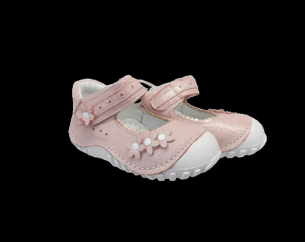Detské topánky TEO BEBE BALERIN SIM PUDRA