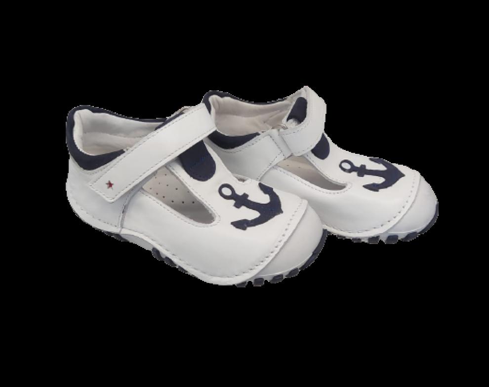 Detské topánky TEO BEBE CAPALI BEYAZ NAVY