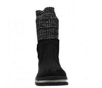 Ponožkovité kotníky LP0413-1848-BA519 ČIERNA SEMIŠ
